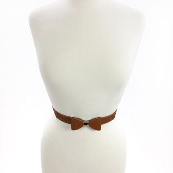 Bow Belt - Cognac