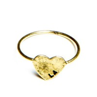 Gold LA Heart Ring