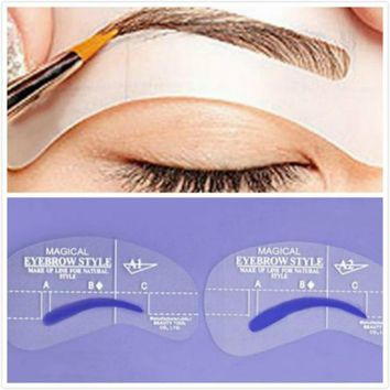 4pcs Magic Eyebrow Stencil Makeup Styles A Stencil For The Eye Brow Drawing Template Make Up Tool Shape For Eyebrols Accessories