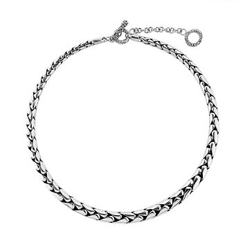 """AN-6272-S-16"""" Sterling Silver Bali Hand Crafted Chain 7MM Graduated Necklace"""