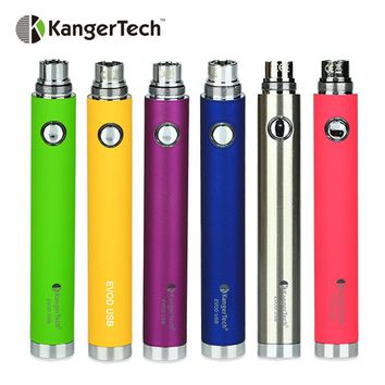 Clearance Kangertech EVOD USB Passthrough Battery Built-in 650mAh Battery EGo Thread for EGo Tank Atomizer Ecig Vape Pen Battery