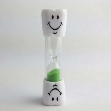 Multicolor 2 Minute Hourglass Kids Toothbrush Timer Smiley Sand Egg Timer ##