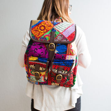 Boho Impulse leather back pack