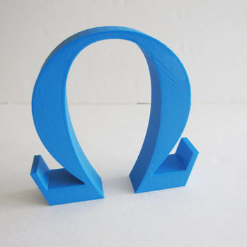3D Printed Home Decor Omega Logogram Font Desk Math Symbol Greek Letters 3-D Printer Wall Hanging Teacher Engineer School