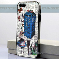 Alice In Wonderland - Tradis Doctor Who - iPhone 4/4S Case - iPhone 5 Case - Samsung Galaxy S3 case - Samsung Galaxy S4 case