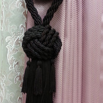 Curtain Accessories - Macrame Curtain Accessories - Dark Brown Accessories - F707