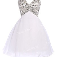 Bridesmaids Sexy Mini Homecoming Cocktail Evening Prom Short Dresses Ball Gown