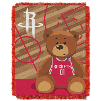 Rockets  Baby 36x46 Triple Woven Jacquard Throw - Half Court Series