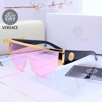Versace new trend for men and women personality big box driving polarized sunglasses