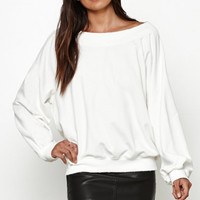 Honey Punch Off-The-Shoulder Sweatshirt at PacSun.com