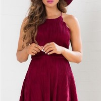 Curved Edges dress in wine
