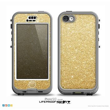 The Gold Glitter Ultra Metallic Skin for the iPhone 5c nüüd LifeProof Case