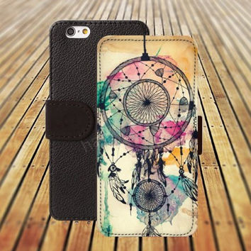 iphone 5 5s case dream catcher waterlcolor colorful iphone 4/4s iPhone 6 6 Plus iphone 5C Wallet Case,iPhone 5 Case,Cover,Cases colorful pattern L290