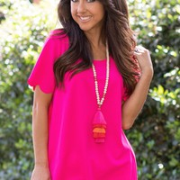 Believe Me Top in Hot Pink | Monday Dress
