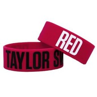 Taylor Swift RED Rubber Bracelet 1 x 4in