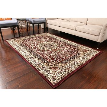 0550 Burgundy Oriental Area Rugs