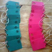 Set of 20 Christmas Gift Tags Red and Green with Snowflake Cutouts Perfect for Winter Holidays Weddings Parties