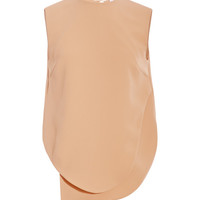 Opening Ceremony Theroux Angled-Hem Crepe Top Nude