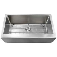 Polaris Sinks All-in-One Farmhouse Apron Front Stainless Steel 33 in. Single Bowl Kitchen Sink P504-ENS at The Home Depot - Mobile