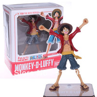 Free Shipping Japanese Anime Cartoon One Piece New World Luffy Action Figures PVC Tos Doll Model Collection superman