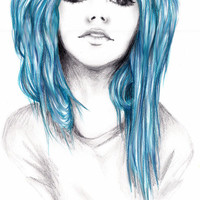 Blue Hair drawing
