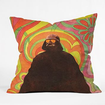 Terry Fan The Groovy Side Throw Pillow