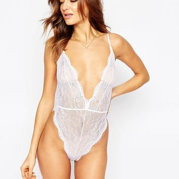 ASOS Bobbi Lace Up Back Body at asos.com