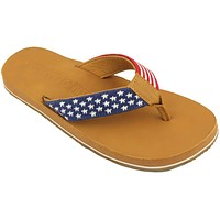 Men's Old Glory Needlepoint Flip Flops in Red White and Blue by Smathers & Branson - FINAL SALE