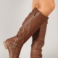 Coco-31 Zipper Buckle Riding Knee High Boot