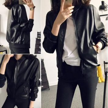 Womens Modern Leather Stylish Jacket