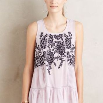 Floreat Embroidered Roselle Tank in Lavender Size: