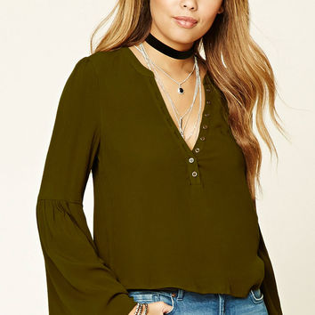 Long Bell-Sleeved Top