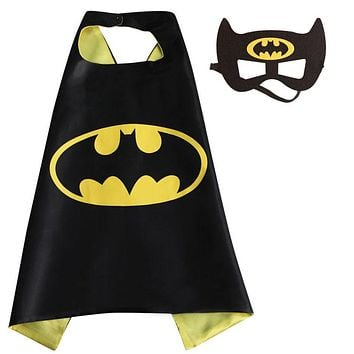 Kids Superhero Capes - Double sides Satin Fabric Super hero cape mask Children birthday party Gifts cosplay Costume Supplies