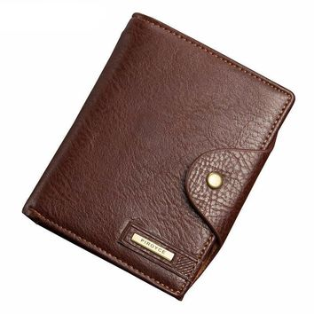 Men's Passport Wallet Best Leather High Capacity Men Wallets