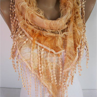 Elegant  Orange  Scarf -  gift Ideas For Her Women's Scarves-christmas gift- for her -Fashion accessories-scarves