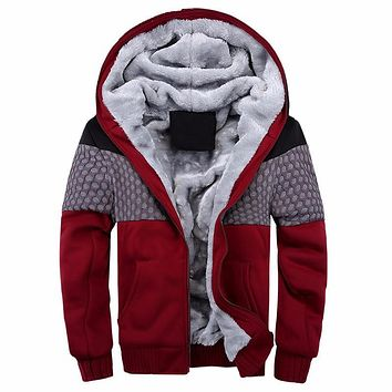 European Bomber Mens Vintage Thickening Fleece Jacket Autumn Winter Designer Famous Male Slim Fit Warm Coat
