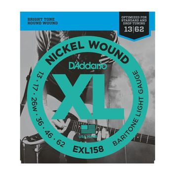 D'Addario EXL158 Nickel Wound Baritone Light Electric Guitar Strings