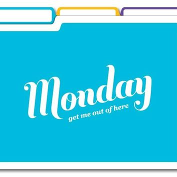 Days Of The Week File Folders - 6 Letter-Sized Folders