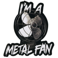 Metal Fan Sticker