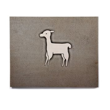 "Monika Strigel ""Llama One"" Grey Birchwood Wall Art"