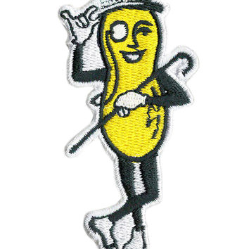 Vintage Style Mr. Peanut Patch 8cm
