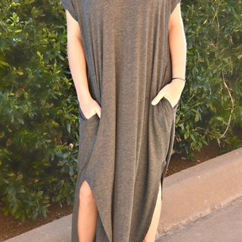 Simple Beauty Dress - Charcoal