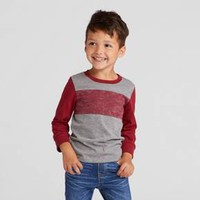 Toddler Boys' T-Shirts Cat & Jack™ - Heather Gray/Red