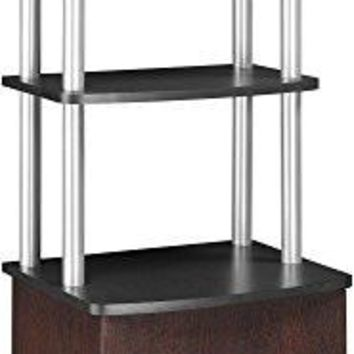 Altra Carson Audio Stand, Cherry/Black