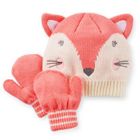 Fox Hat & Mitten Set