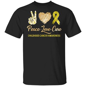 Peace Love Cure Childhood Cancer Awareness