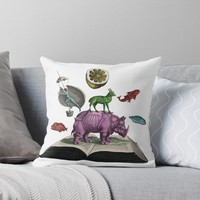 'State Library Victoria ' Throw Pillow by ValentinaHramov