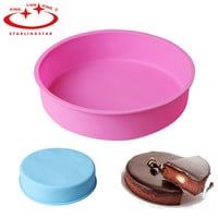 24*5cm High-Quality  Round Shaped Cake Mold Silicone Baking Mold Muffin Cases Cupcake Liner Baking Mold Cakes Bakeware Mould