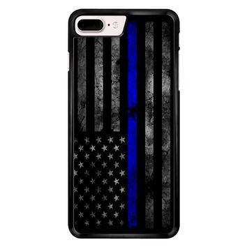 American Police Officer The Thin Blue Line iPhone 7 Plus Case