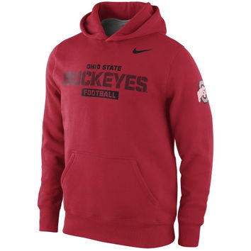Nike Ohio State Buckeyes Youth Practice Hoodie - Red - http://www.shareasale.com/m-pr.cfm?merchantID=7124&userID=1042934&productID=520947906 / Ohio State Buckeyes